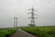 Pylons and power cables crossing Peak Lane