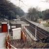 Disley station - looking toward Stockport