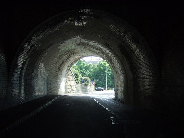 Under the Ferryhill rail bridge