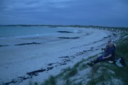 Traigh Chronaig beach at night