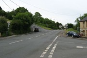 Road junction at Castell-y-rhingyll