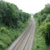 Railway at Fernhill Heath