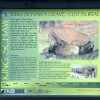 Site information board at King Schaw's Grave