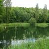 Ornamental lake off Cut Throat Lane