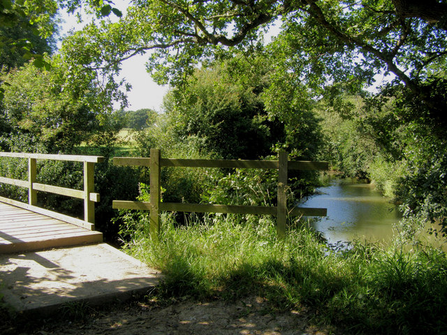 The Weald Way at Sessingham Bridge on the Cuckmere River