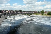 Opening of the new pedestrian bridge - Castleford