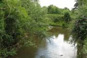 Paunton - River Frome at the bridge