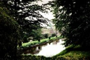 Forde Abbey from among the trees