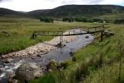 Dilapidated bridge over the Isla