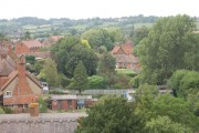 Hardwick  north view from church tower.