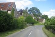 Main road through village