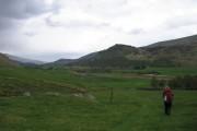 Cateran Trail running through farmland in Glen Shee