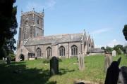 Landulph church in the hot summer sun