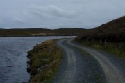 Mill loch and rough track to Tingon