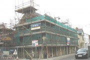 The medieval Townhouse undergoing restoration