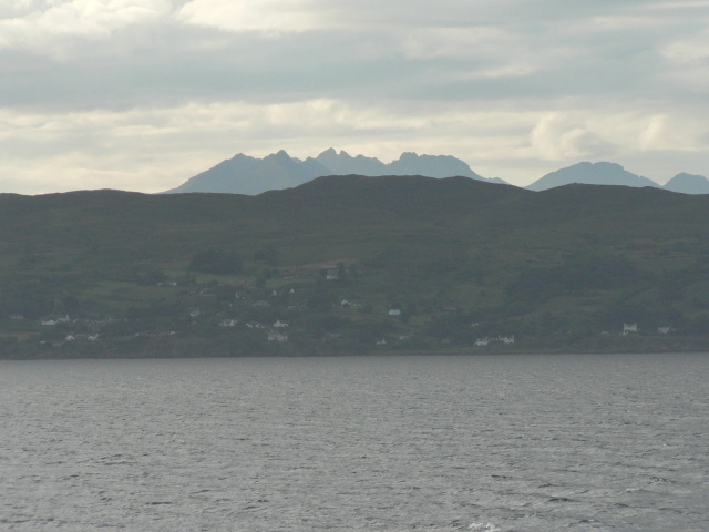 Ardvasar: view from the ferry