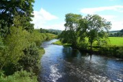 River Usk, downstream from Aber-bran Bridge