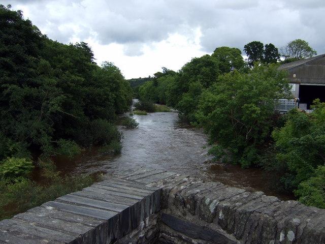 Afon Teifi from the bridge