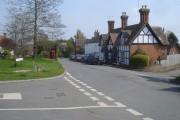 Main road junction at Church Lench - 2