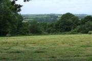 Farmland and woodland, Capel Betws Lleucu, Ceredigion