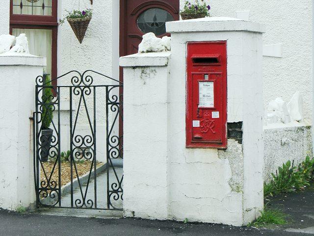 Georgian Postbox in Tycroes