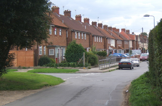 Whitton Church Lane, looking west
