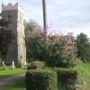 Approaching Claydon Church from Church Lane