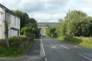 The Trans-Pennine Trail bridge over the A616, Hazlehead, Dunford