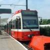 Tram at Beckenham Junction station