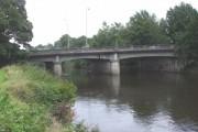 Western Avenue bridge over the Taff, looking downstream