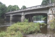 Western Avenue bridge over the Taff, looking upstream