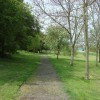 Footpath, small open area near Downs road