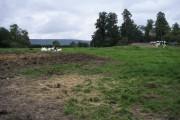 Across the field to Emmington Church