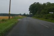 Marykirk / Hillside Road at its junction with the road leading to Logie