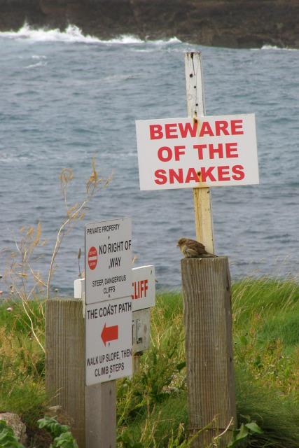 Various signs, Sennen Cove