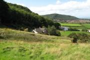 Houses beneath Coed Abergele