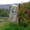 Old gatepost in East Clyne
