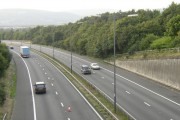 M4 motorway (westbound) at Junction 44