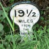 A mile marker along the Grantham Canal