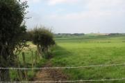 View north from Bryn Gwyn over verdant farmland