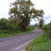 Bend on the B4333 Newcastle Emlyn to Cynwyl Elfed road