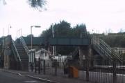 Pedestrian Bridge at Crediton Station
