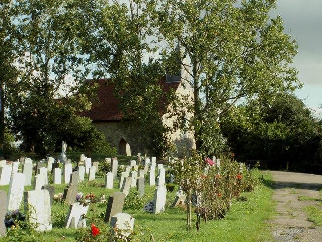 All Saints; the parish church of Vange