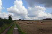 Track and farmland north of Hinckley