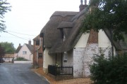 Cottages at Catworth, near the start of the lane to the church
