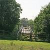Defunct footbridge over M27 east of junction 3
