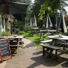 Beer garden on the last day of summer