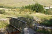 Bridge over the Ogwr Fach, carpark, Mynydd Maesteg