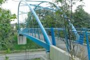 Footbridge over M4 at Morriston