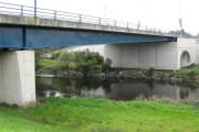 Bridge over Tawe river and paths
